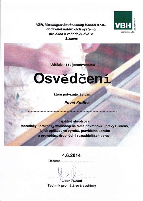 certifikat_kadlec_sikkens